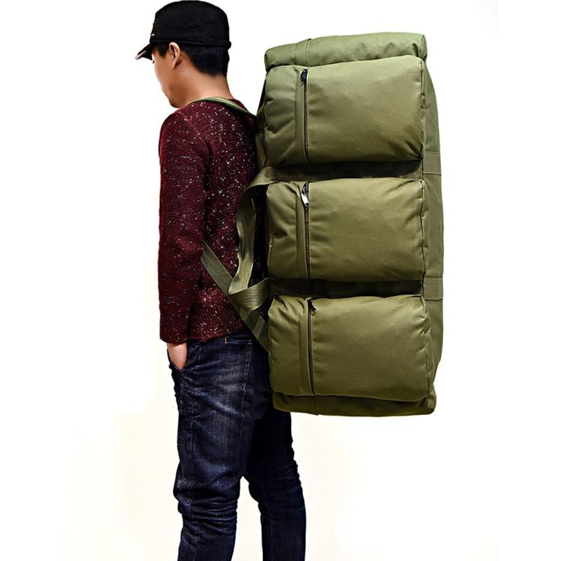 Sac à dos tactique militaire pour hommes de grande capacité 90L sac à bandoulière étanche pour bagages à main sac à bandoulière Oxford randonnée Camping sac de voyage - 2