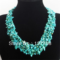 Min. Order is 10 USD (mixed order) Turquoises Chip necklace 17.5 inch R0000689