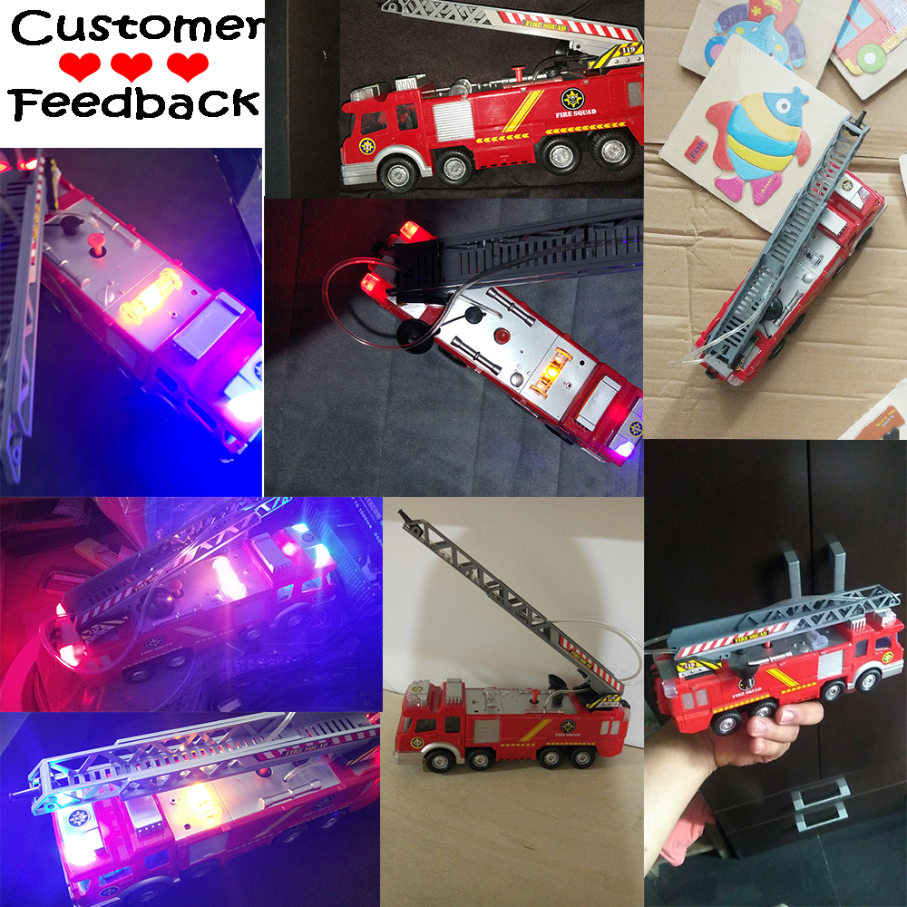 Toys & Hobbies Hearty Spray Water Fire Truck Car Music Light Educational Toys Boy Kids Truck Fireman