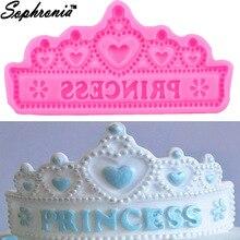 M657 Hot NEW Princess Crown Silicone Cake Molds Wedding Border Fondant Decorating Tools Cupcake Chocolate