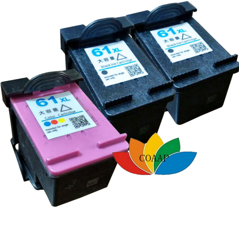 3 Compatible hp61 XL Ink Cartridge for HP 61 CH561WN CH562WN for HP ENVY 4500 4501