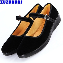 new women cloth flat sole shoes black flock hotel flats ladies buckle strap girls shoes ultra light traditional shoes women 788v