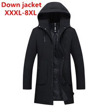 big sizeThick Down Jacket New Long Winter Down & Parkas Warm Fashion Business White Duck Down Jackets And Coats Brand Clothing