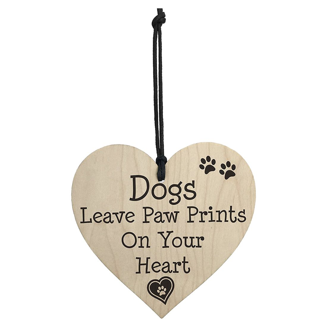 HOT SALE Dog Leave Paw Prints On Your Heart Wooden Hanging Plaque Dogs Lover Gift Sign -