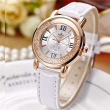 Hot 2017 Ladies Fashion Quartz Watch Women Rhinestone Leather Casual Dress Women vogue Watch relogio feminino Dropshipping NMB18