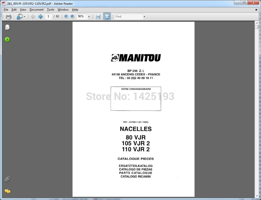 manitou forklift parts catalogs service manuals and operator s