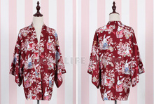 Japanese Women 3/4 Sleeve Floral Rabbit Kimono Yukata Coat Outwear 5 Colors