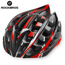 RockBros Red Helmet Unisex Road Bike MTB Cycling Ultralight Bicycle Helmet Casco Ciclismo Road Mountain Helmet