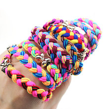 10Pcs Multicolor Scrunchy Girls Hair Accessories Gum Elastic Hair