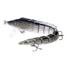 23CM 46G Big Multi-jointed Lure Bass Pike Fishing Bait Swimbait Lifelike Loach Tackles