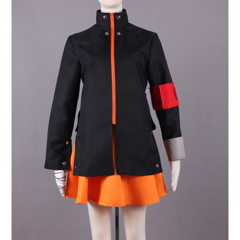 New Japanese Anime NARUTO The last Cosplay Uzumaki Naruto Costumes Adult Women Anime Costume Tops & Skirt