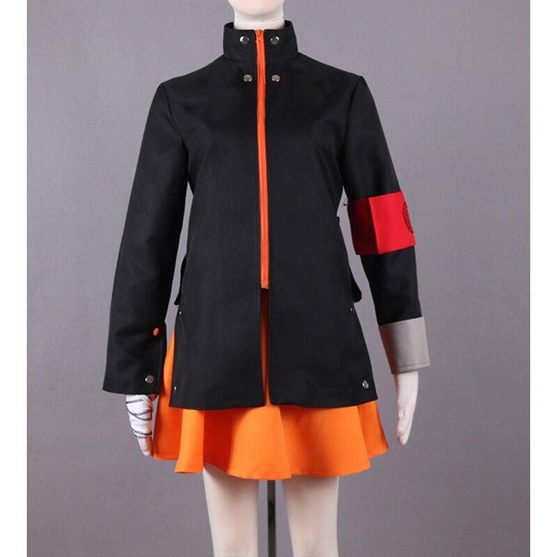 New Japanese Anime NARUTO The last Cosplay Uzumaki Naruto Costumes Adult Women Anime Costume Tops & Skirt