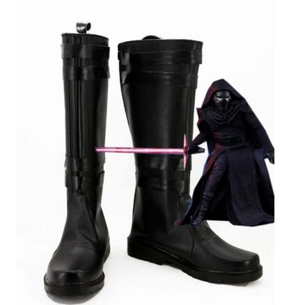 2015 New Star Wars 7: The Force Awakens Kylo Ren Men Boots Cosplay Shoes Custom Made