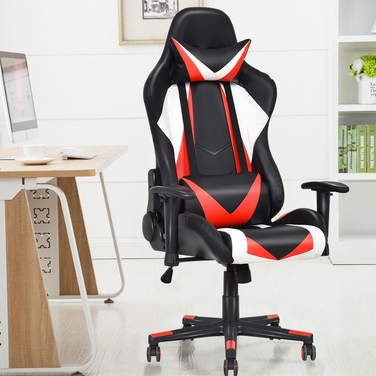 recliner gaming chair clear mat giantex racing style high back executive office computer chairs modern offfice furniture hw55607 in from on