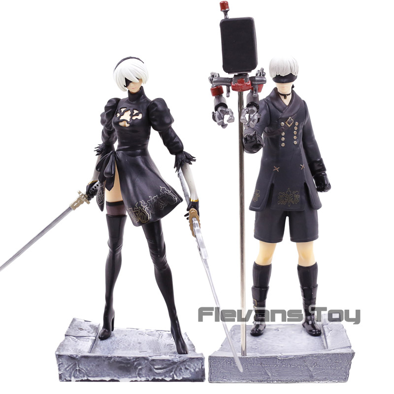 PS4 Game NieR Automata Character YoRHa No.9 Type S 9S / No.2 Type B 2B PVC Figure Collectible Model ToyPS4 Game NieR Automata Character YoRHa No.9 Type S 9S / No.2 Type B 2B PVC Figure Collectible Model Toy