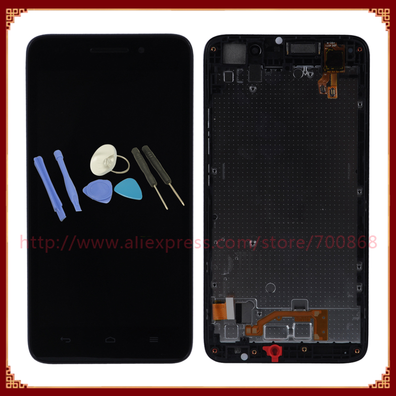 For Huawei Ascend G620s Lcd Display With Touch Screen Digitizer Assembly   Frame Replacement