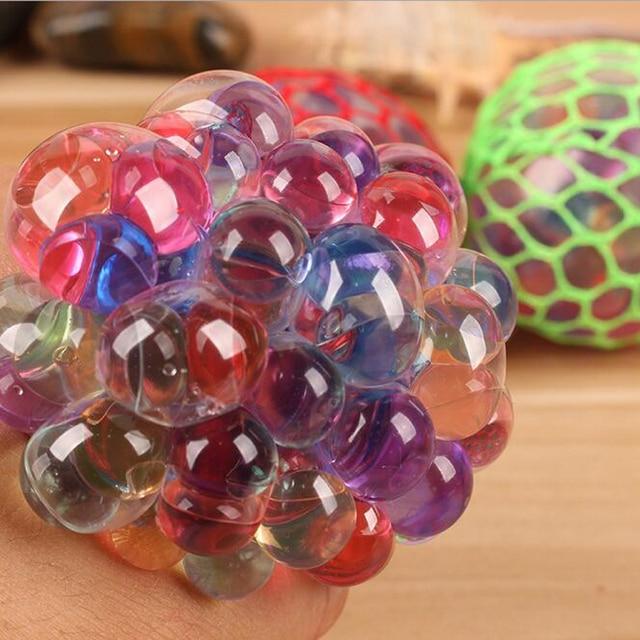 1pc 6cm Anti Stress Glowing Lghting Up Toy Luminous Grape Ball Developmental Educational Toys for Children Games Kids Funny Gift