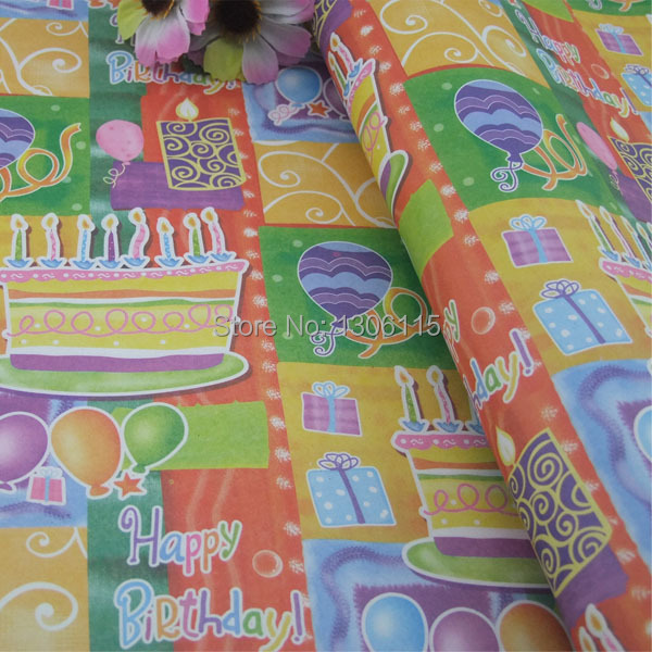 Gift Wrapping Paper Souvenir Packaging Happy Birthday Gift Wrap Home