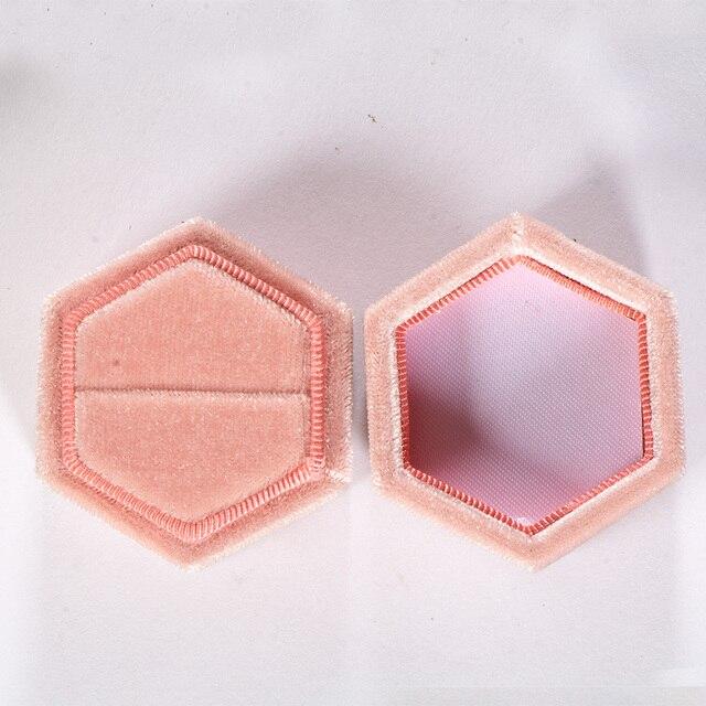 Kuololit Pink Velvet Hexagon Ring box 4