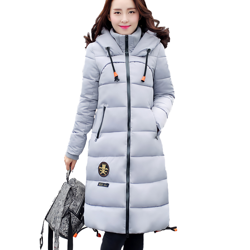 2016 Winter Thickening Women Parkas Women's Wadded Jacket Outerwear Cotton-padded Jacket Medium-long Coat Army Green parkas for women winter army green wadded coat large fur collar thickening cotton padded jacket outerwear female snow wear brand