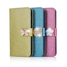 Hot Sale Fashion Sparkling Case for Meizu PRO 7 Leather For Plus Cover Wallet Filp Phone Cases With Card Slot
