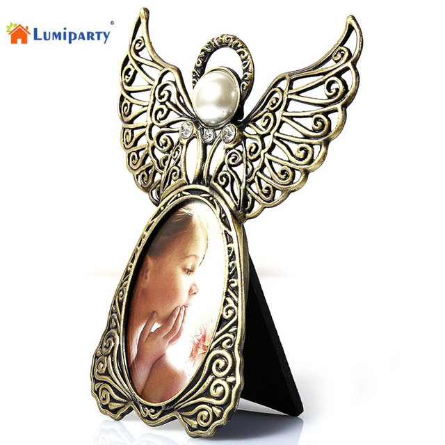 LumiParty Angel Wings Metal Vintage Picture Frames Creative Gifts ...