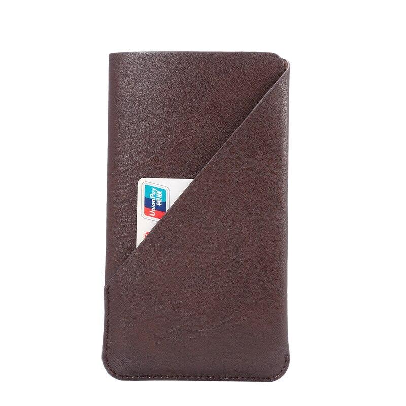 La moda de nueva titular de la tarjeta de crédito bolsa de cuero del teléfono ca