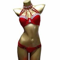 Crystal Diamond Bikini Set 2018 Sexy Bandage Swimsuit Brazilian Women Swim Beach Wear Swimwear