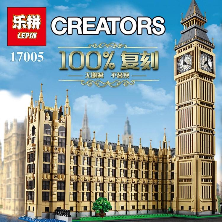 LEPIN 17005 4163pcs Big Ben Elizabeth Tower Model Building Kits Block Brick Toy Gift Compatible legoed 10253 lepin 22001 pirate ship imperial warships model building block briks toys gift 1717pcs compatible legoed 10210