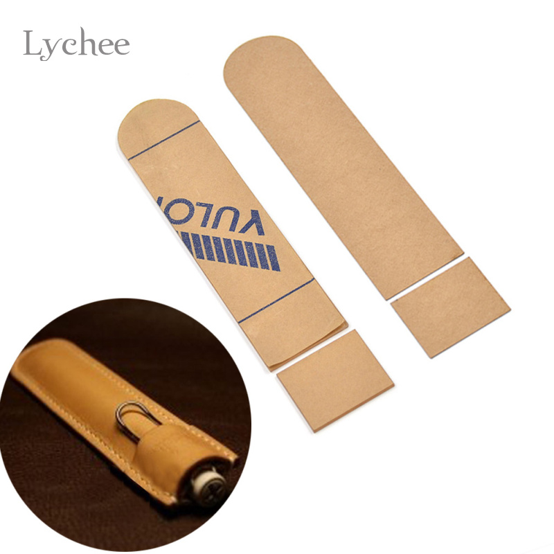 Lychee Life Lychee DIY Acrylic Leather Pen Case Template Handmade Craft Pen Holder Leather Craft Sewing Tool