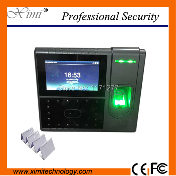 RFID face and fingerprint scanner time attendance and access control 4.3 screen rs232&485 optional battery time clock