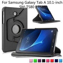 360 Grados Que Giran el Soporte Cubierta de la Caja para 2016 Liberación Samsung Galaxy Tab de 10.1 Pulgadas Tablet (SM-T580/SM-T585) sólo
