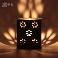 Oil Lamp Aromatherapy Lamp Candle Holder Antiquity Incense Burner Incense Seat Hollow Out Design Grind Romantic Elegant Refined