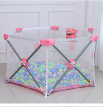 Children Home Foldable Safety Baby Play Fence Baby Indoor Game Crawling Fence Baby Activity Fence Playground Playpen for Kids