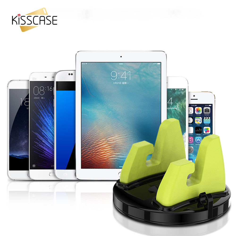KISSCASE Car Phone Stand For iPhone 6 7 Plus Samsung S8 Plus Car Air Vent Mount 360 Degree Rotation Mobile Phone Holder Stand