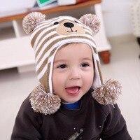 Winter Warm Baby Hat Baby Knitting Cap Cartoon Pattern Baby Boy Hats Children S Cap 3