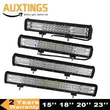 """7d 3 fileiras 4 5"""" 15 """"18"""" 20 """"23"""" lâmpada led barra led para barra offroad, barra de luz led para inundação, trabalho em barra 12v 24v, caminhão 4wd"""