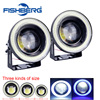 1pair LED Fog Lights COB 30W Waterproof Projector With Lens Halo Angel Eyes Rings 5Colors Optional 12V SUV ATV Off Road Fog Lamp