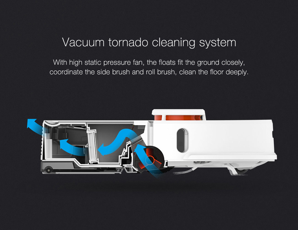 INTERNATIONAL VERSION XIAOMI MIJIA ROBOROCK VACUUM CLEANER 2 AUTOMATIC AREA CLEANING 2000PA SUCTION 2 IN 1 SWEEPING MOPPING FUNCTION 256393 12