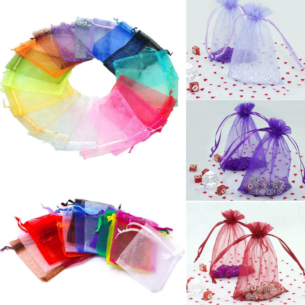 Wedding Gift Bags Bulk : Wholesale 100pcs/lot lavender Organza Packaging Wedding Gift Bags ...
