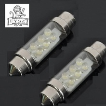 36mm car-styling car styling   6LED 1W white light  Festoon  Light Error Free Canbus Lamp for Car- white DC12V