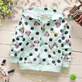 2016 New spring Casual  Baby Girls Cartoon mouse Dot Pattern Children's  Sweatshirts Outwear Coats Hoodies Y1664