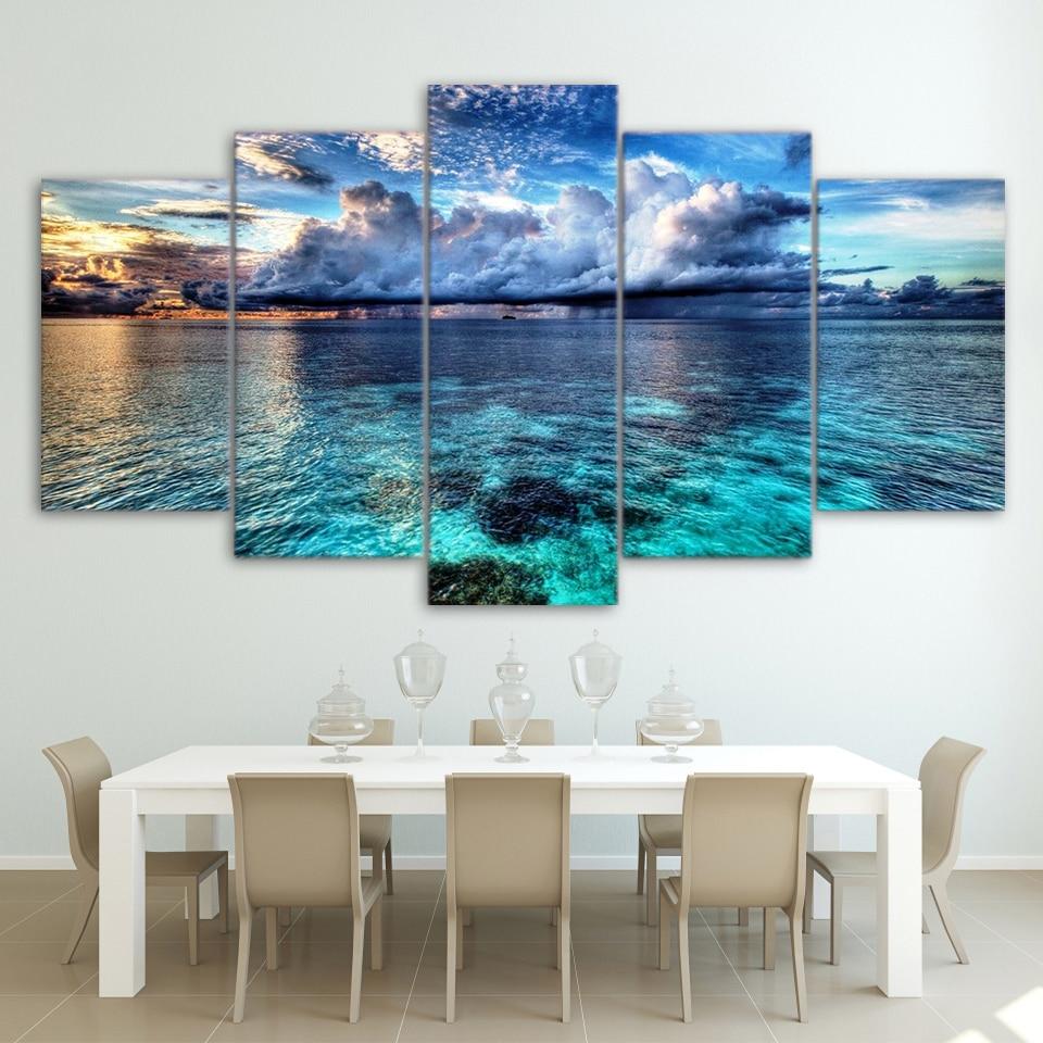 Canvas HD Modern Wall Art Home Decoration Living Room 5 ...
