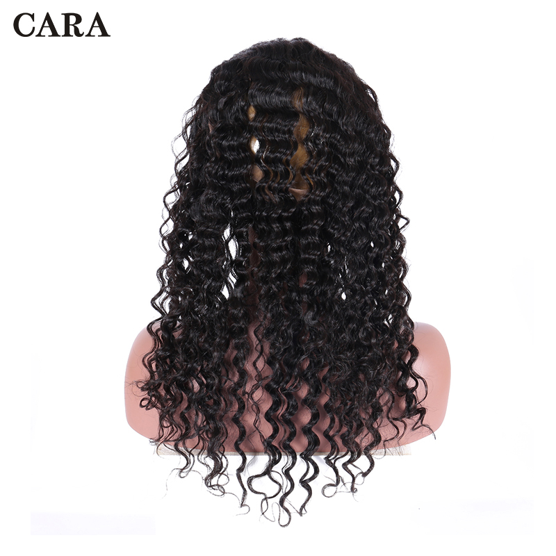 Deep Wave 360 Lace Frontal Closure Pre Plucked With Baby Hair Brazilian Remy Hair Lace Frontal Closure CARA Human Hair Frontals