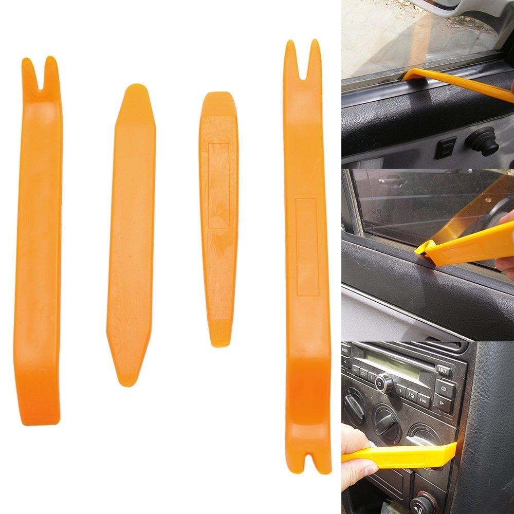 4 pcs Interior Car Dashboard Door Panel Molding Clip Trim Open Plastic Pry Tool Set Kit Removal Installation Repair Tools kit