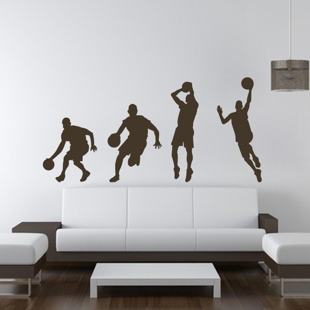 Gewaltig Wandtattoo Basketball Beste Wahl Player Dribbeln Dunk Sequenz Michael Jordan Aufkleber