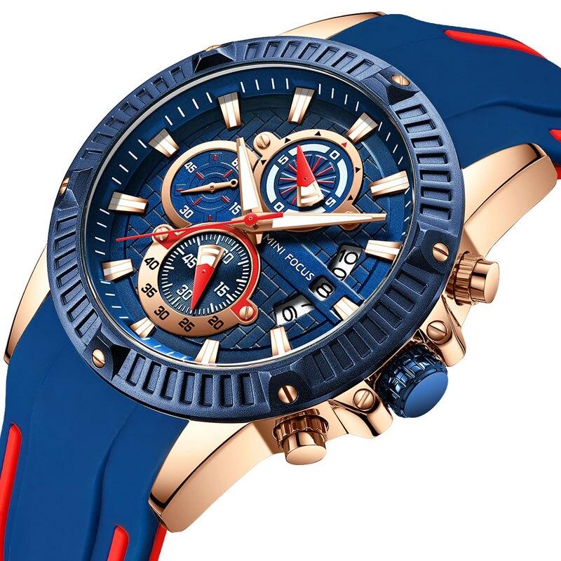 Permalink to Man Watch 2018 Blue Big Face Chronograph Quartz AAA Watches Silicone Luxury Quartz Watch Luminous Hands Waterproof Wristwatch
