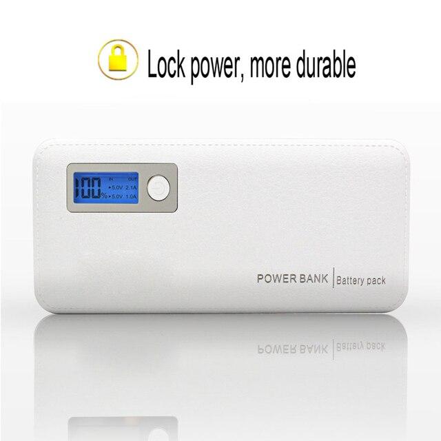 Настоящее 12000 мАч Портативный Банк силы 3 USB ЖК-Дисплей Внешнее зарядное Устройство Powerbank Для всех телефонов