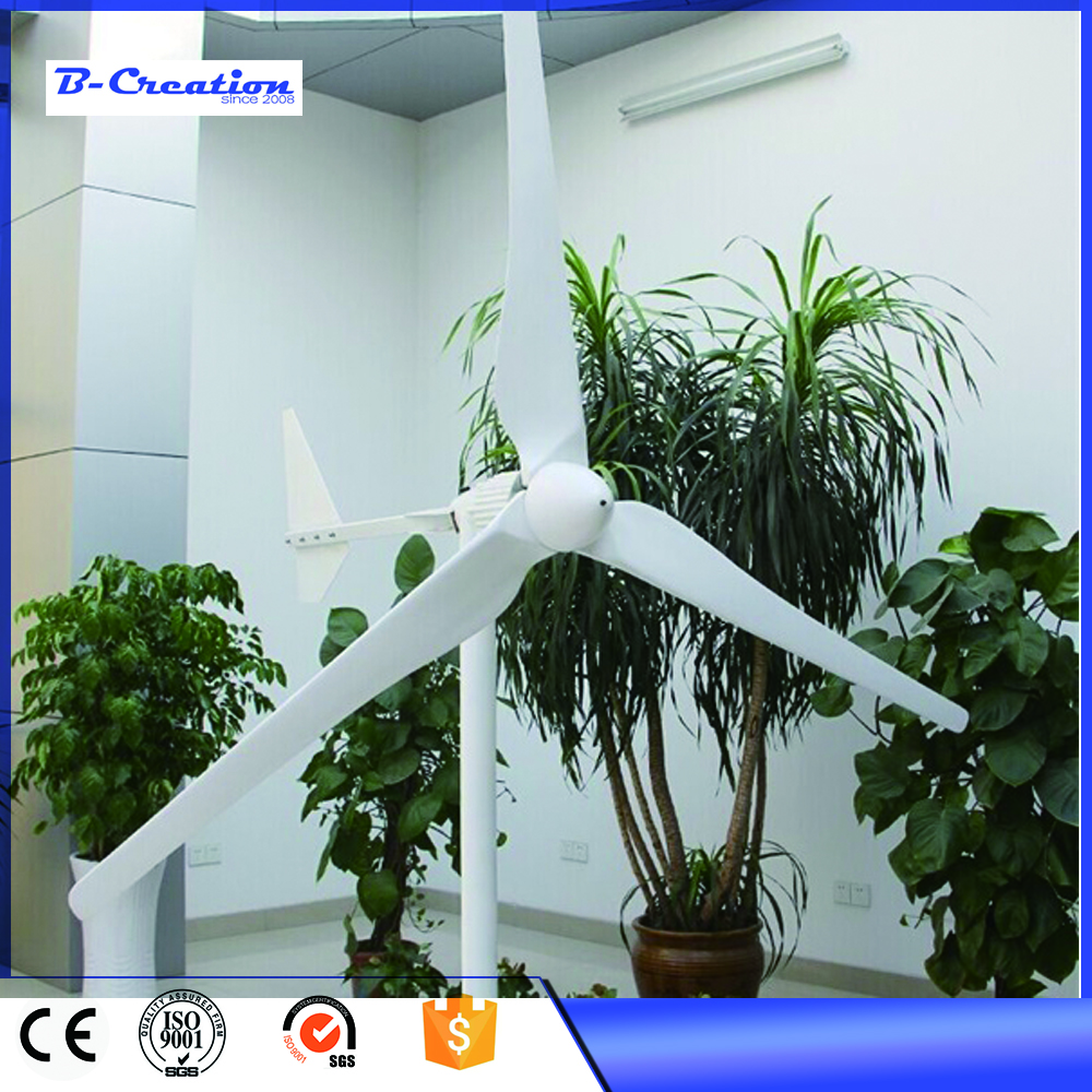 wind turbine generator 3.2m rotor diameter with wind solar controller 2.5m/s start wind speed 2000W/2KW 48V/96V DC three phase horizontal ac 2kw 48v 96v wind generator wind turbine