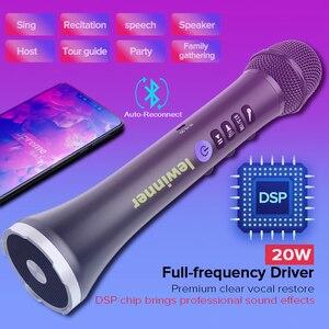Image 5 - Lewinner Upgrade L 698D Professionele 20W Draagbare Draadloze Bluetooth Karaoke Microfoon Luidspreker Met Grote Macht Voor Zingen/Vergadering
